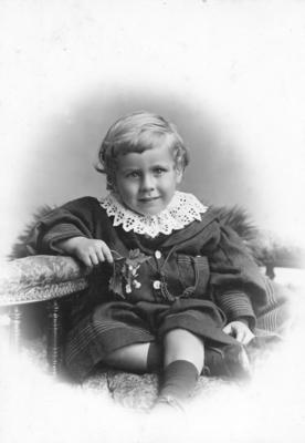 Portrait of one of the Milne children