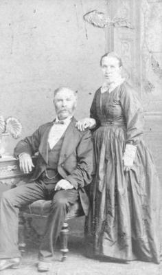 Portrait of an unidentified man and woman