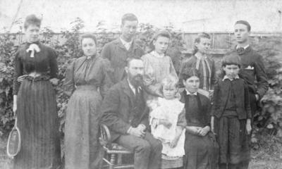 Portrait of the Nicholls family