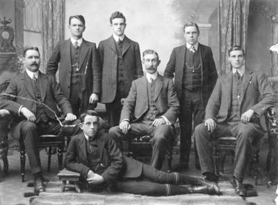 Portrait of staff at Macky Logan Caldwell Limited, Napier