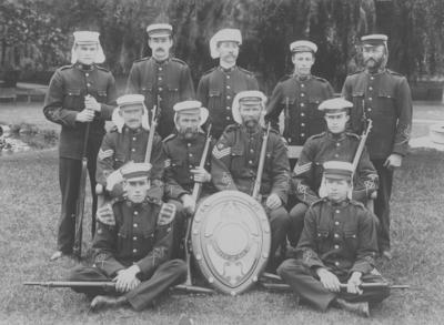 Group portrait, Hastings Rifles