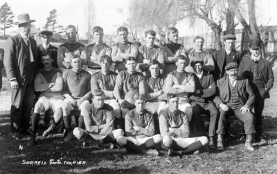 Group Portrait, Unidentified Football Team; Sorrell & Son