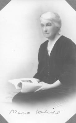Portrait of Marie White; Deighton Studios