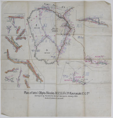 Plan, Te Mata land block XI