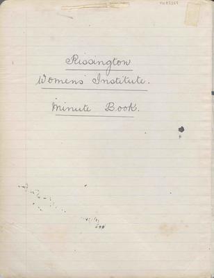 Minute book, Rissington Country Women's Institute
