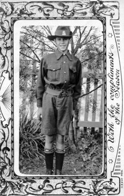 Young man in a uniform