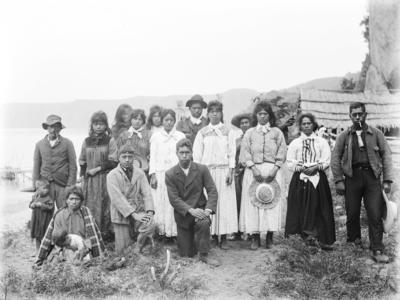 Group portrait at Waihora