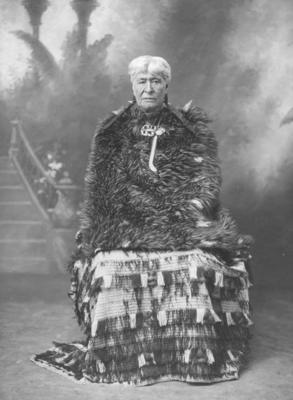 A portrait of a Māori woman