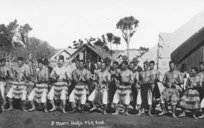 Māori men performing a haka