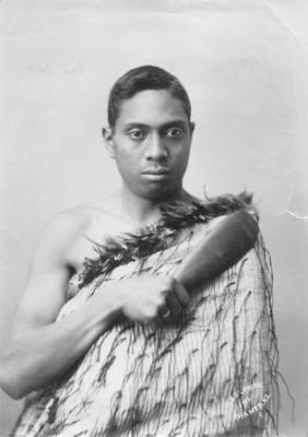 Portrait of Māori man