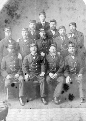 Portrait of a group of men in uniform