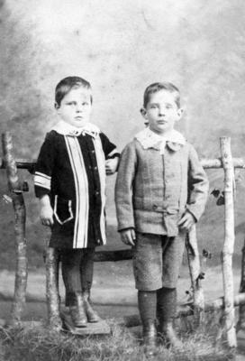 Portrait of two unidentified men