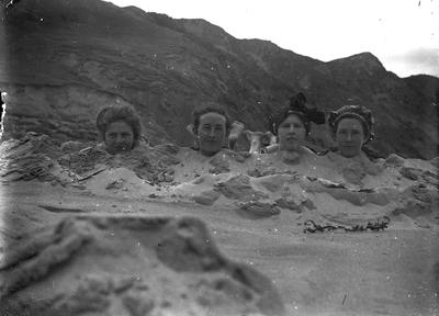 Negative, Heads of Four Adults
