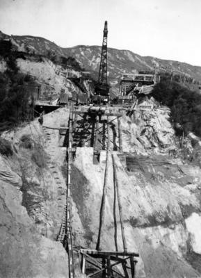 Construction of railway bridge on the East Coast railway line