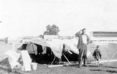 Refugees at McLean Park, Napier