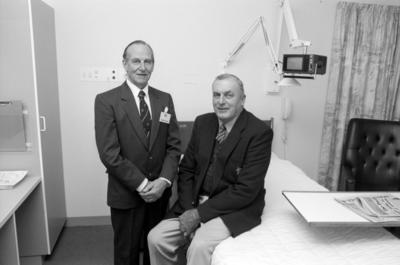 Keith Ewen and Peter Harris, Princess Alexandra Hospital, Napier