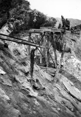 Damage caused to a bridge on the East Coast railway line