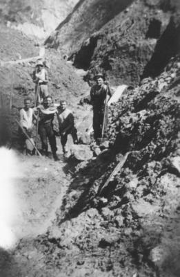 Five railway employees working on the East Coast railway line