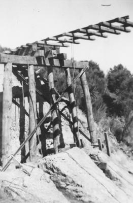 A rail bridge on the East Coast railway line