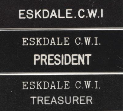 Badges, Eskdale Country Women's Institute