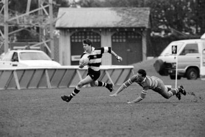 Aaron Hamilton and Carl Izatt, Magpies Rugby Team, Napier