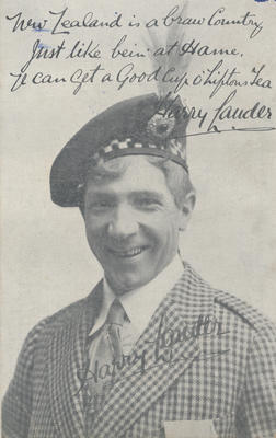 Postcard, Harry Lauder