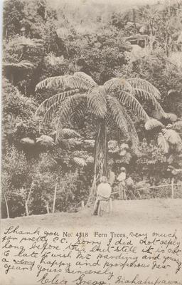 Postcard, addressed to Mrs W Harding