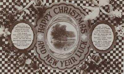 Postcard, addressed to Mr W A Harding; A & G Taylor