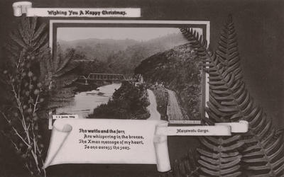Postcard, addressed to Mr Harding