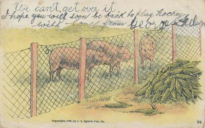 Postcard, to Master Wilfred Harding