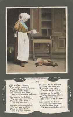 Postcard, Old Mother Hubbard