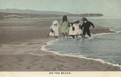Postcard, On the Beach