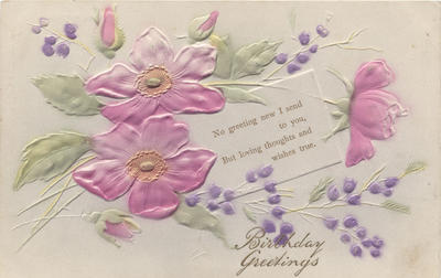 Postcard, Birthday Greetings; J Beagles & Co., Ltd