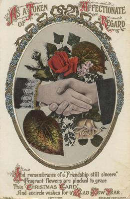 Postcard, As a token of affectionate regard; J Beagles & Co., Ltd