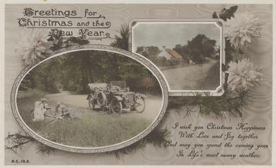 Postcard, Greetings for Christmas and the New Year; Rotary Photographic Series