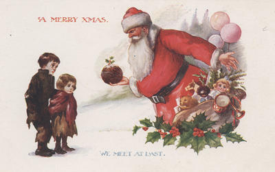 Postcard, A Merry Xmas We Meet at Last