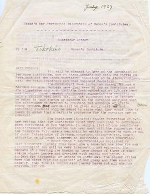 Letter, Anna Elizabeth Jerome Spencer