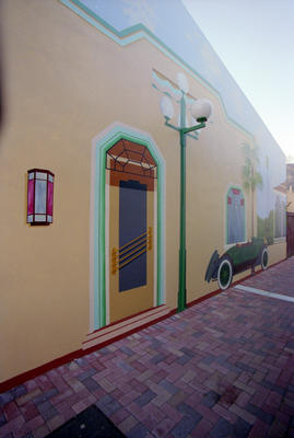 Mural, Theatre Lane, Emerson and Tennyson Streets, Napier