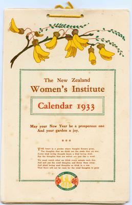 Calendar, New Zealand Women's Institute
