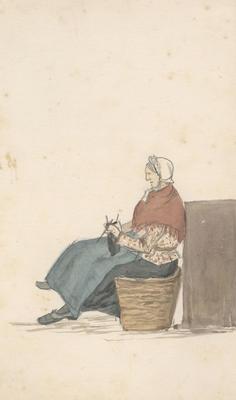 Untitled - a woman knitting