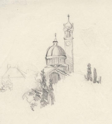 Untitled - sketch of dome and spire