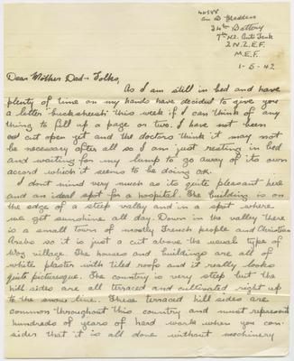 Letter and envelope, Bernard Madden; Madden, Bernard Oswald Joseph; Church Army; 2013/65/38
