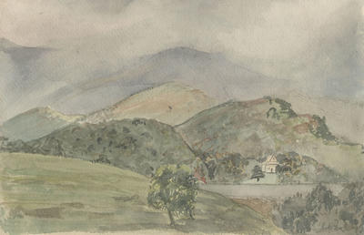 Untitled - hills and lake