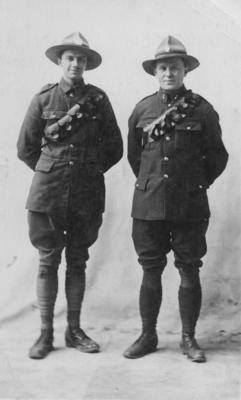 Two unidentified men in New Zealand Army uniform