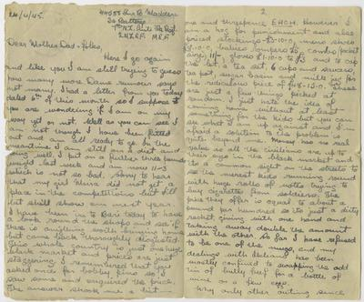 Airmail letter, Bernard Madden