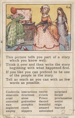 Teaching card, Cinderella; Charles and Son, Ltd; 2014/12/10