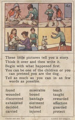 Teaching card, the dog