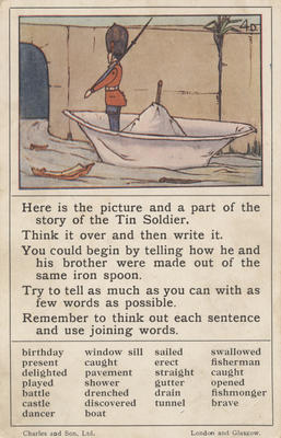 Teaching card, the Tin Soldier
