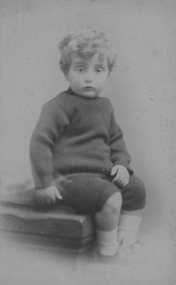 Portrait, an unidentified boy