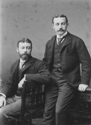 Portrait, two unidentified men